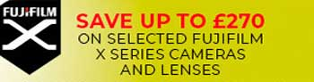 save on selected fuji x series cameras