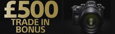 £500 Trade In Bonus on the Sony Alpha A9