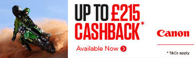 Claim back up to £215 with Canon's Autumn Cashback