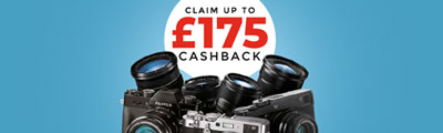 Claim up to £175 Cashback on selected Fujifilm X Series Cameras and Lenses