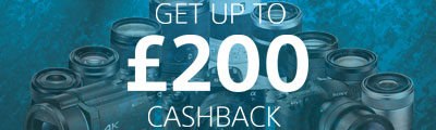 Up to £200 Cashback on selected Sony starts now!