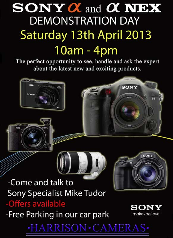 sony demo day at harrison cameras 2013