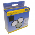This handy kit contains a polariser, UV and a close up filter. Great for experimenting with your photography.