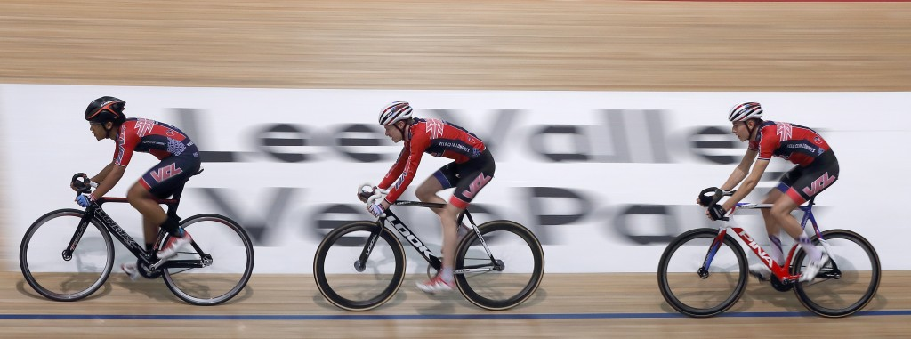 Images from the Canon 1DX Mk2 ad shoot at Lee Valey Velopark in London, December 10, 2015.