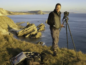 David Noton at Mupe Bay, Jurassic Coast, Dorset