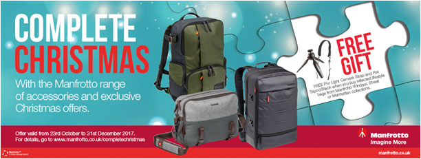 Manfrotto Complete Christmas Promotion