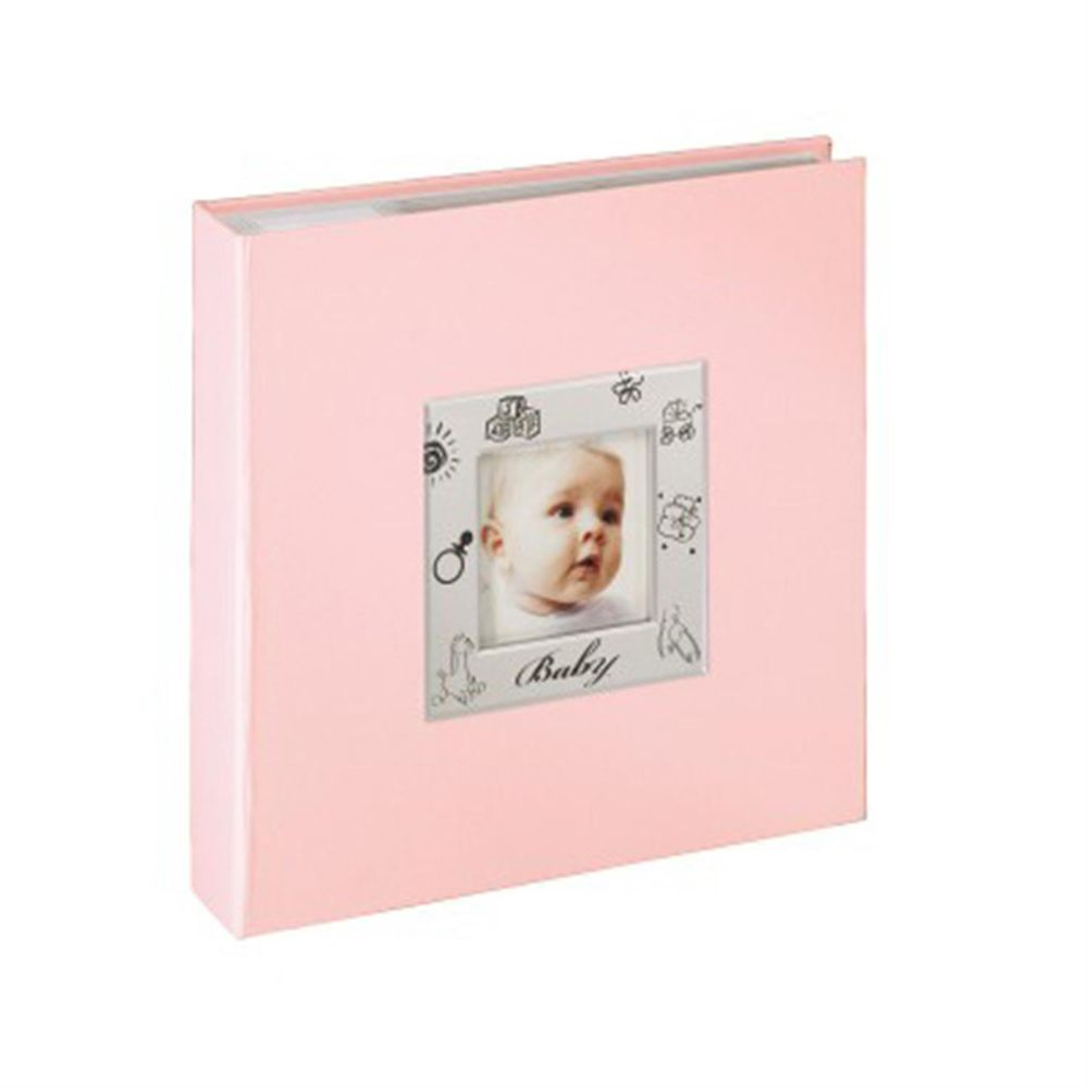 hama ronja pink baby 6x4 slip in photo album 200 photos. Black Bedroom Furniture Sets. Home Design Ideas