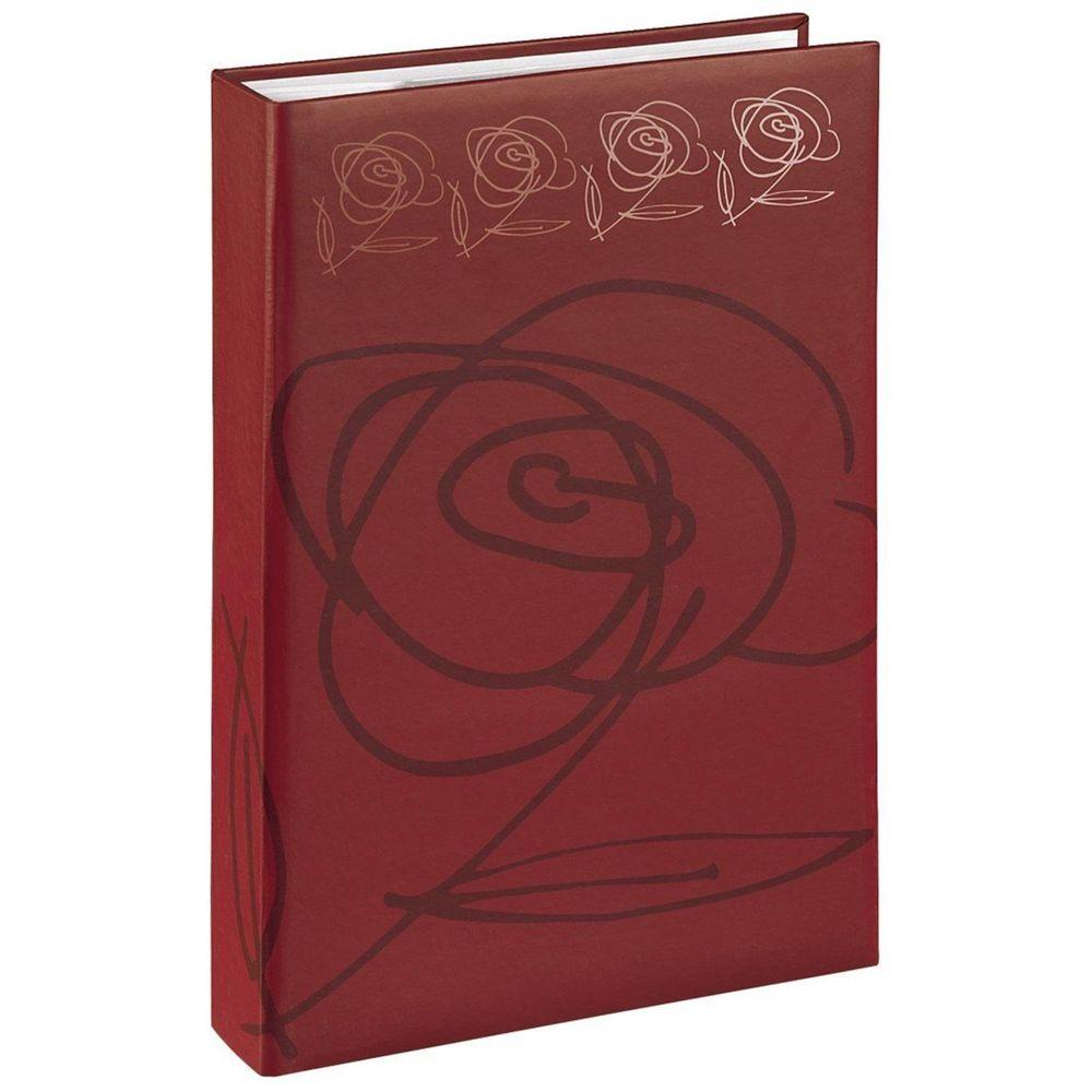 hama wild rose red 6x4 slip in photo album 300 photos. Black Bedroom Furniture Sets. Home Design Ideas