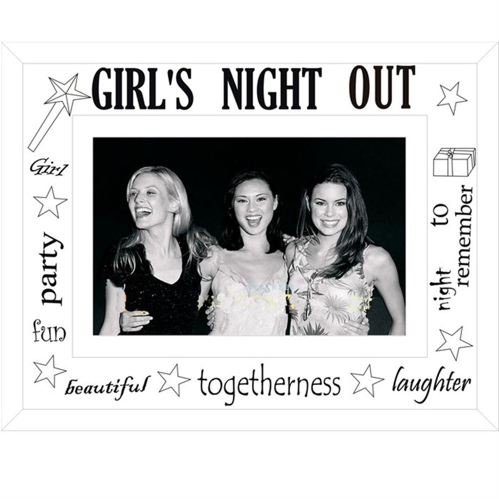Sixtrees Girls Night Out Glass and Mirror 6x4 Photo Frame