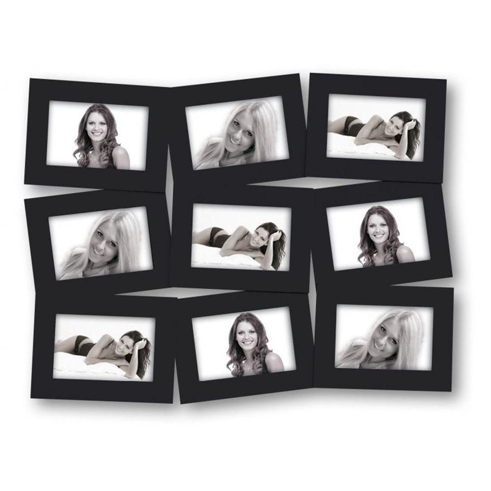 roma multi aperture black photo frame for 9 6x4 photos. Black Bedroom Furniture Sets. Home Design Ideas