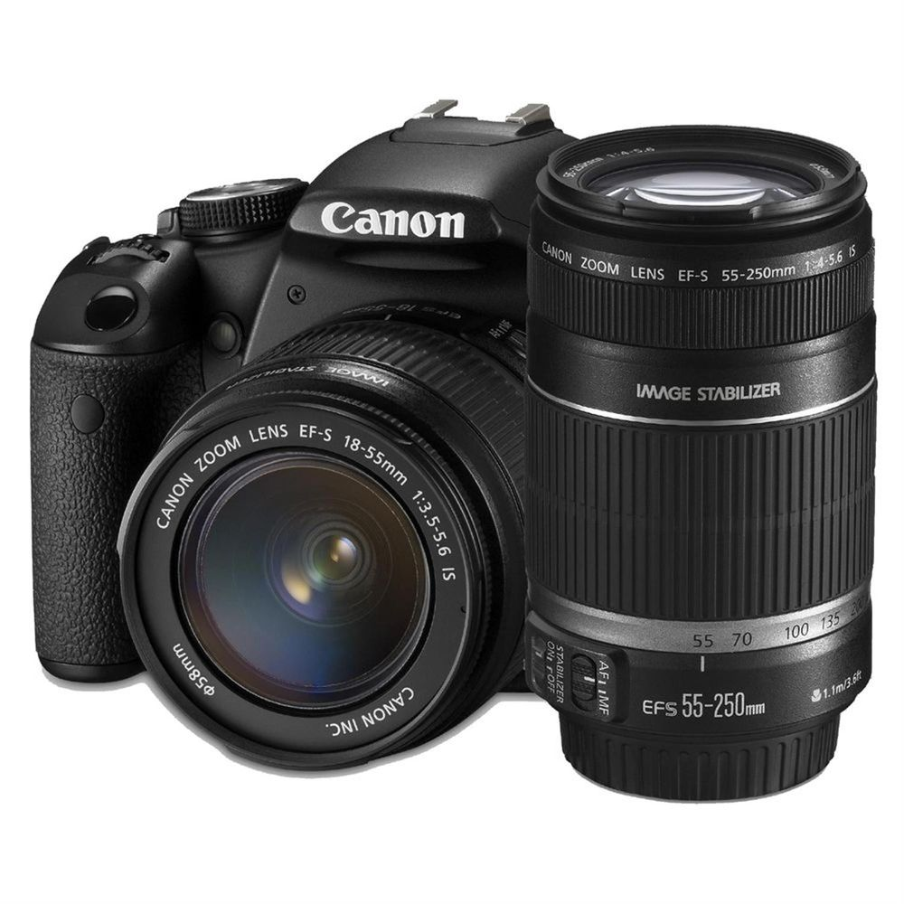 canon eos 60d digital slr camera with 18 55 is lens and 55 250 is lens kit. Black Bedroom Furniture Sets. Home Design Ideas