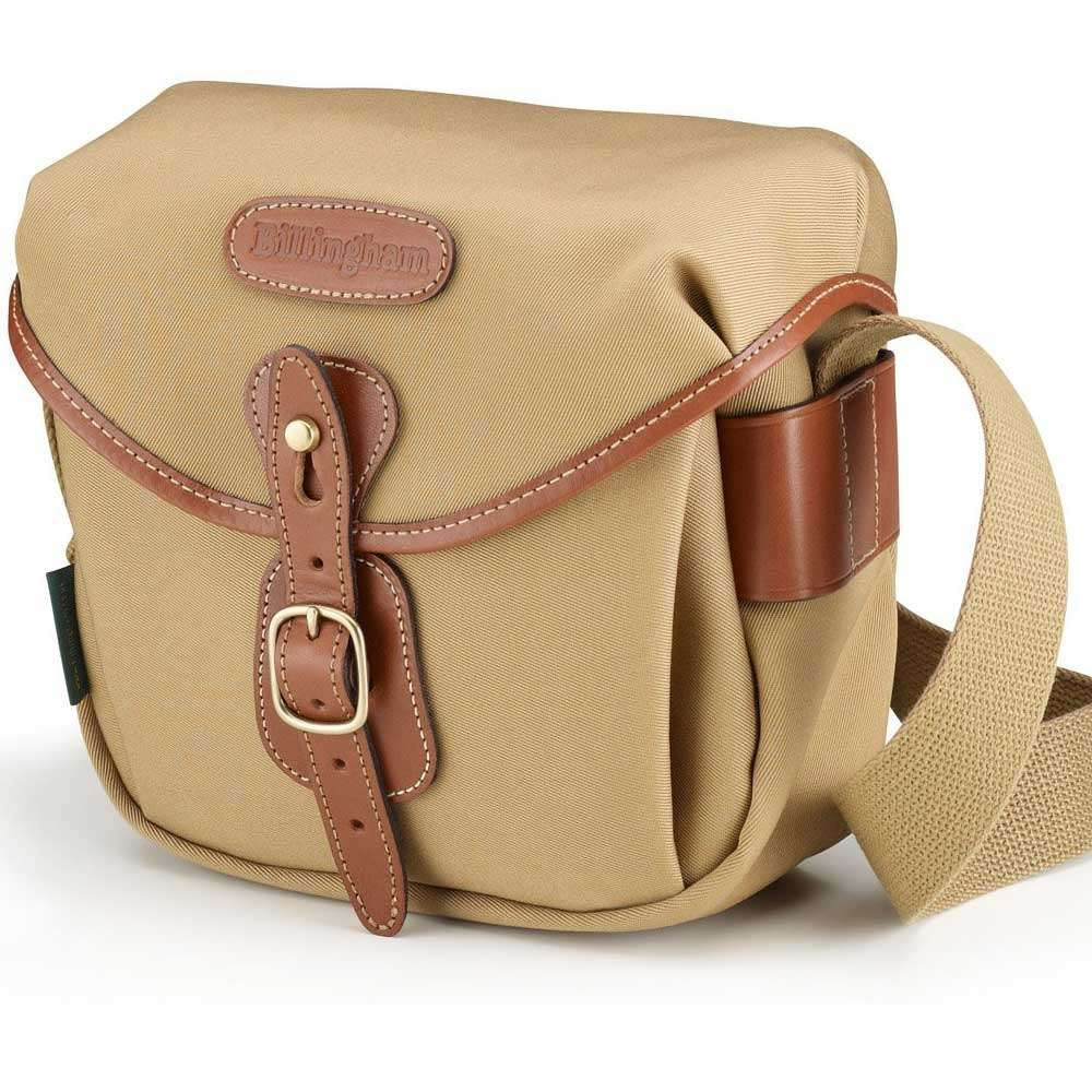 60cd54b092 Billingham Hadley Digital Shoulder Bag - Khaki Canvas and Tan Leather. Tap  to expand