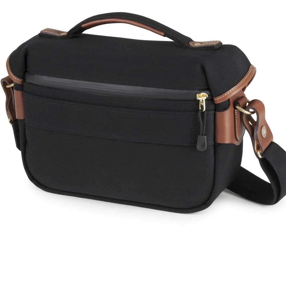 Billingham Hadley Small Pro Shoulder Bag Black Canvas Tan Leather Khaki Chocolate