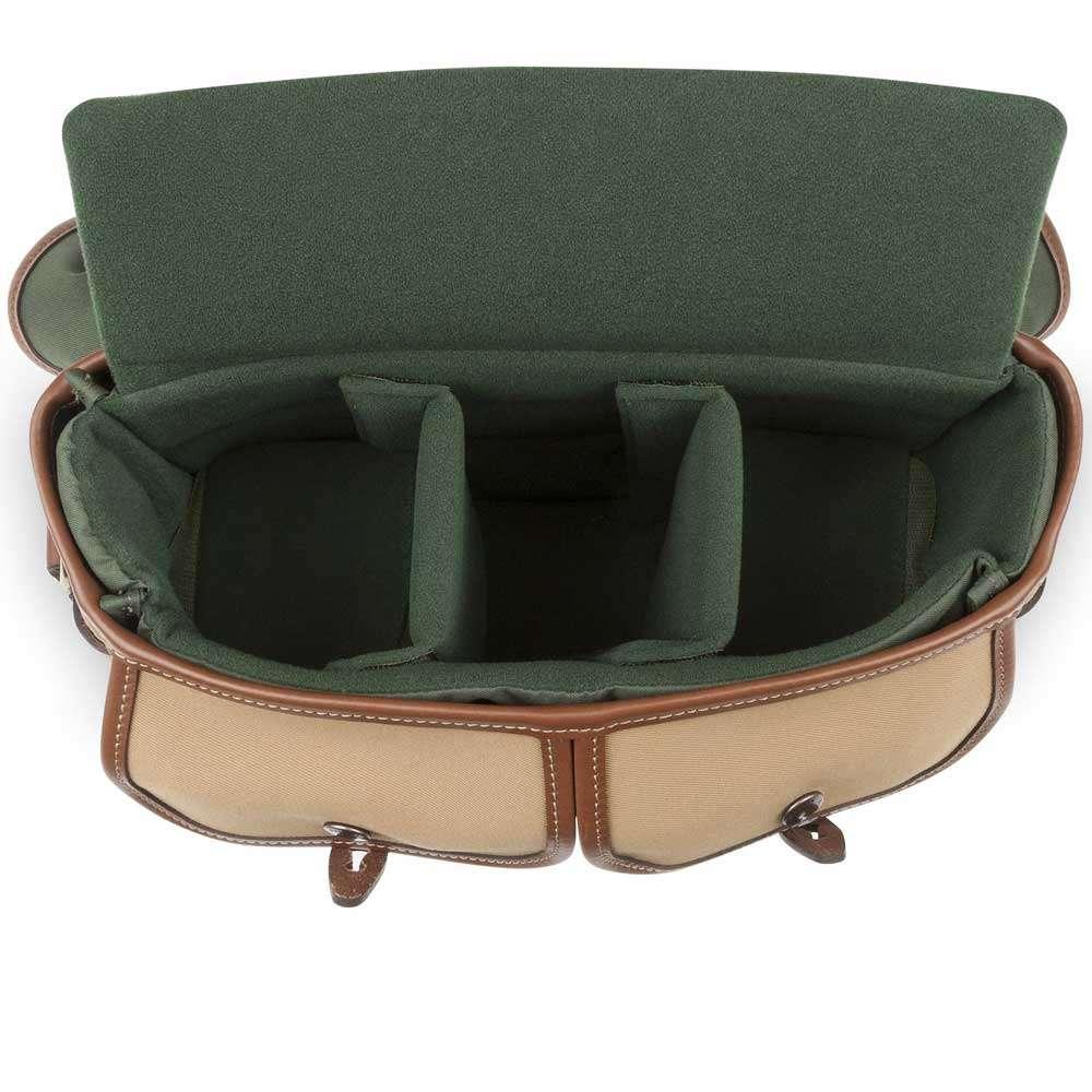 Billingham Hadley Small Pro Shoulder Bag Khaki Canvas Tan Leather Sage Choc Trim