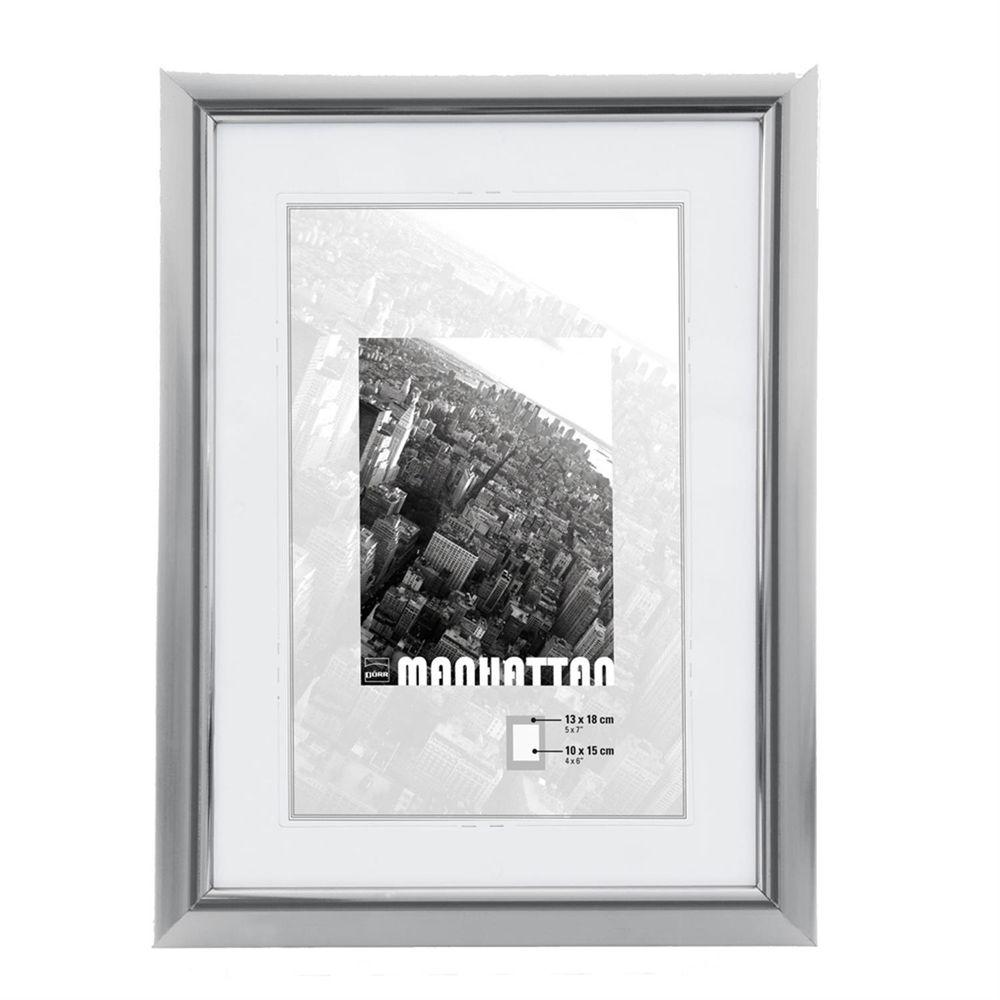 dorr manhattan silver 6x4 photo frame. Black Bedroom Furniture Sets. Home Design Ideas