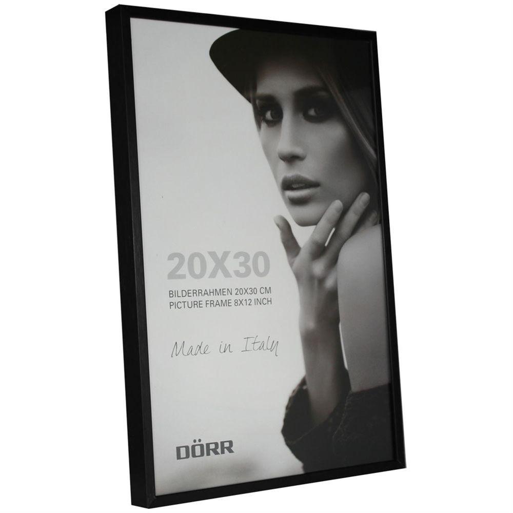 Dorr Signa Brushed Aluminium Black 12x8 Photo Frame