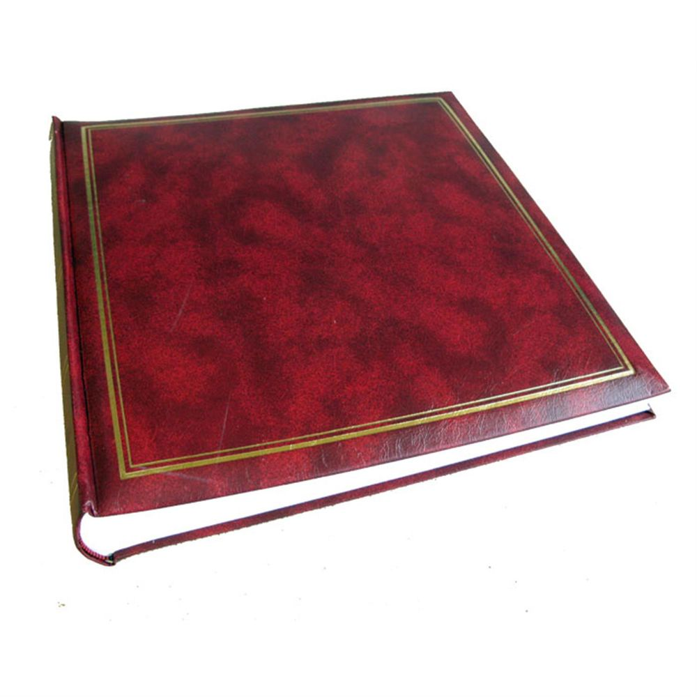 classic burgundy traditional photo album 100 sides. Black Bedroom Furniture Sets. Home Design Ideas