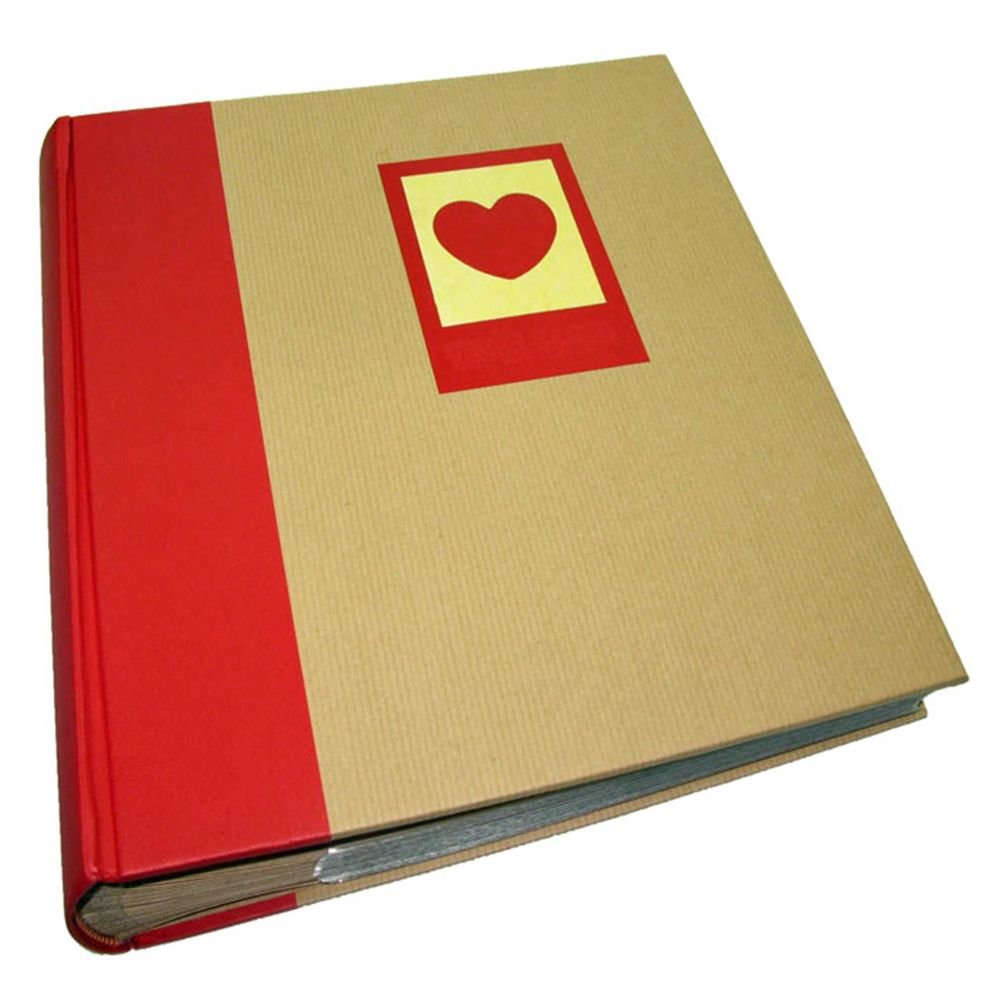 green earth red heart 7x5 slip in photo album 200 photos. Black Bedroom Furniture Sets. Home Design Ideas