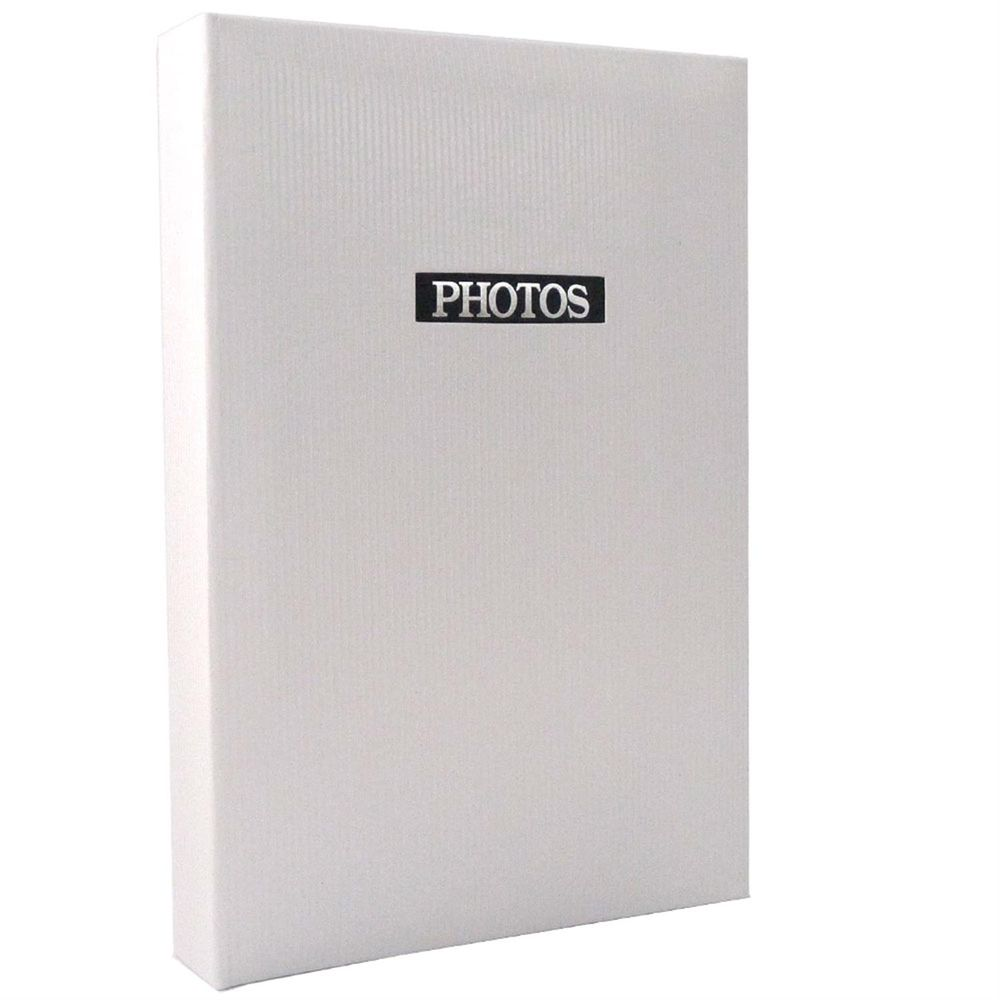 Elegance White 6x4 Slip In Photo Album
