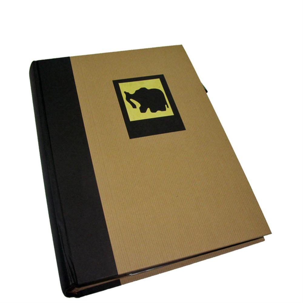green earth black elephant 6x4 slip in photo album 300. Black Bedroom Furniture Sets. Home Design Ideas