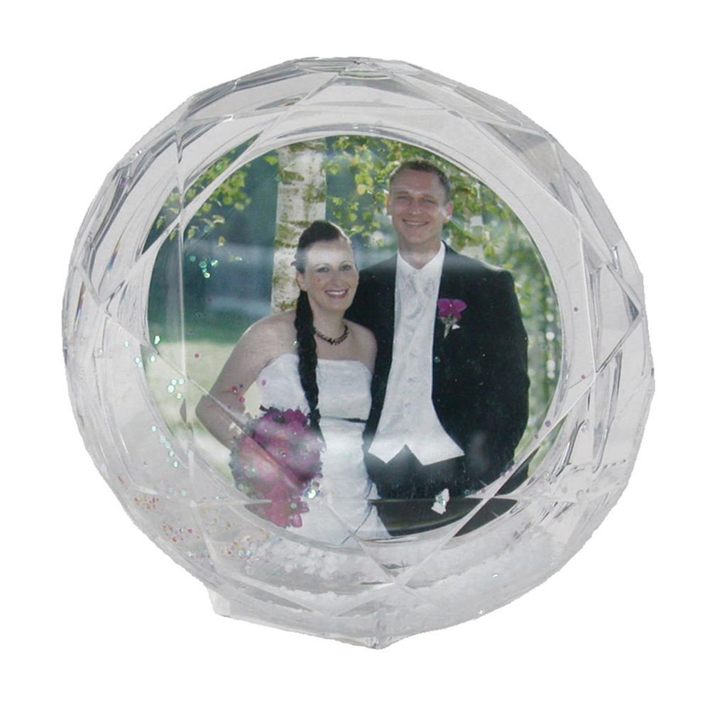 Butterfly Shaped Glitter Globe Picture Frame 3.5 Inches