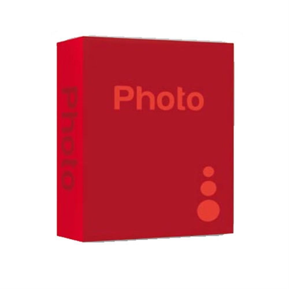 basic red 9x6 slip in photo album 200 photos overall. Black Bedroom Furniture Sets. Home Design Ideas