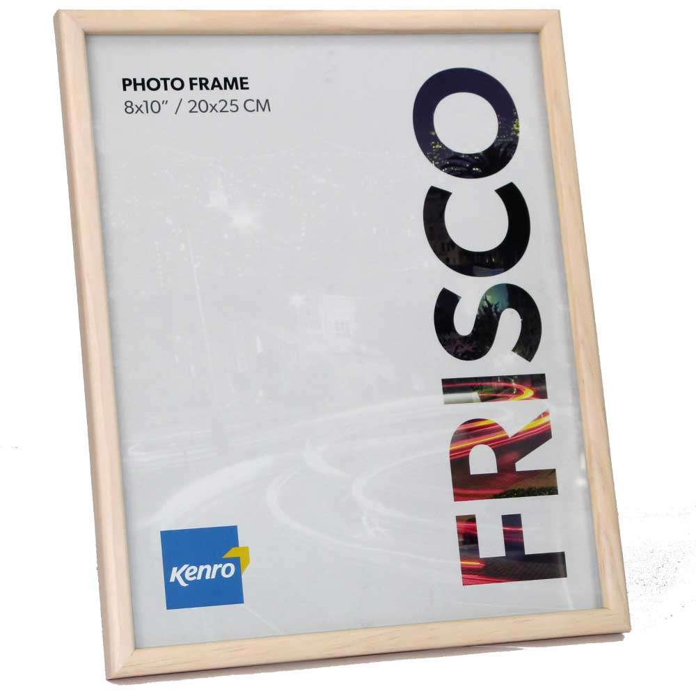 Frisco Natural Wood 10x8 Inch Photo Frame Overall Size 10.5x8.5 Inches