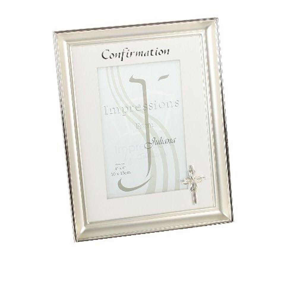 juliana silver plated confirmation 6x4 photo frame. Black Bedroom Furniture Sets. Home Design Ideas