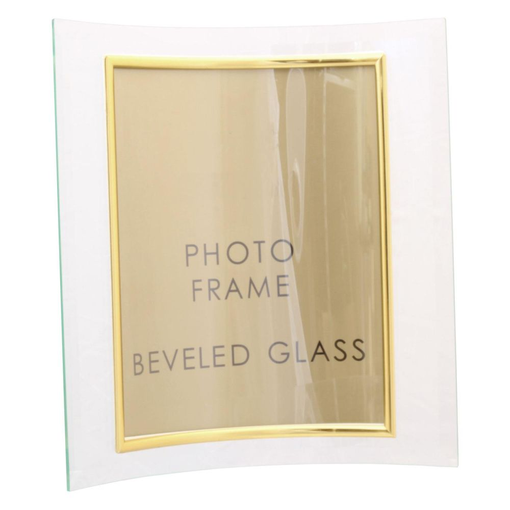 sixtrees curved bevelled glass gold x photo frame vertical buy  - sixtrees curved bevelled glass gold x photo frame vertical
