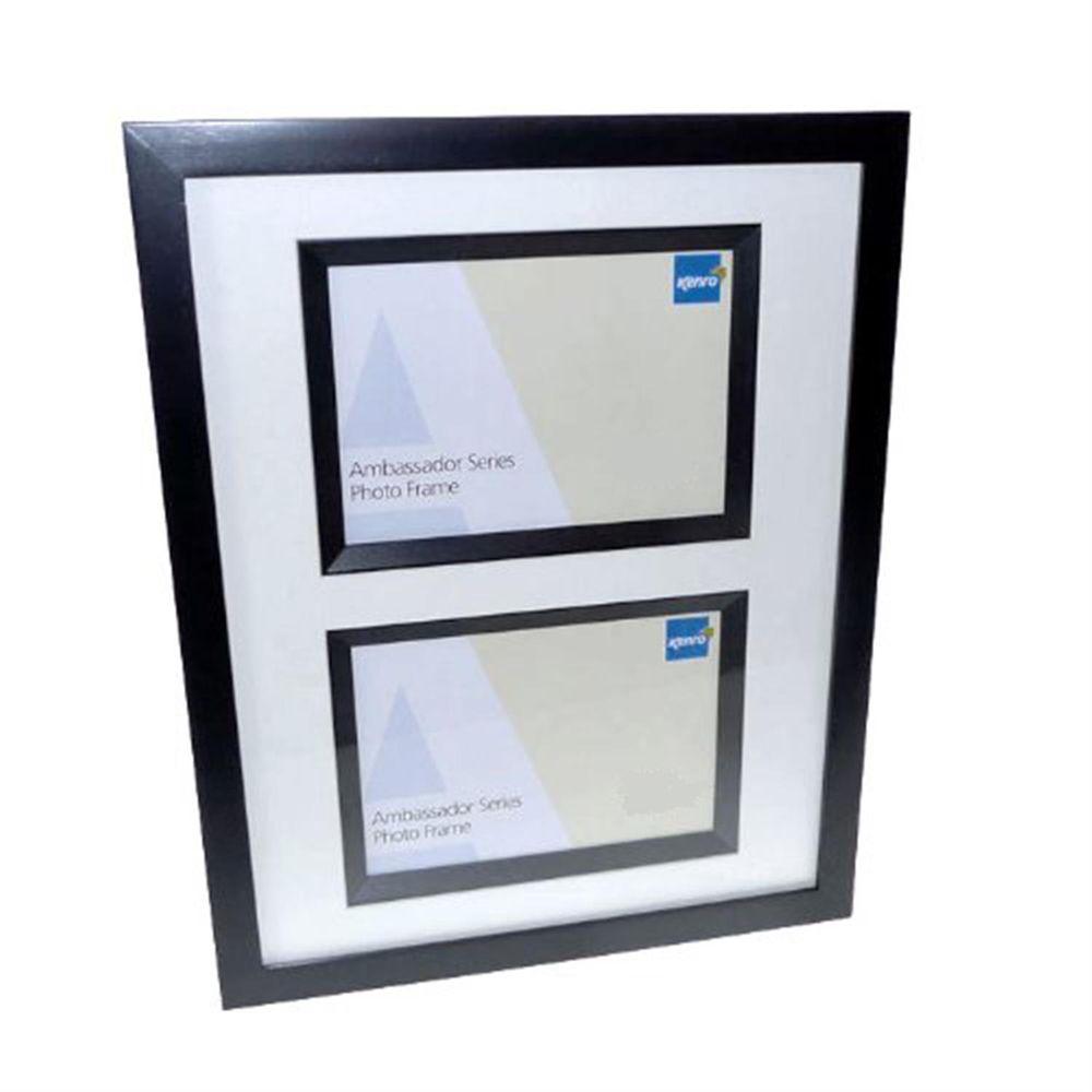 ambassador black wood double 6x4 photo frame harrison. Black Bedroom Furniture Sets. Home Design Ideas