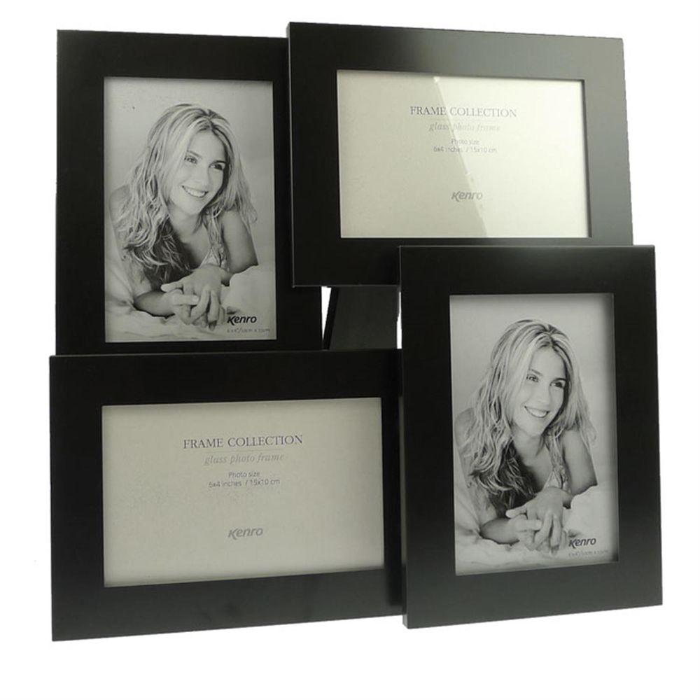 rocco black 6x4 multi photo frame harrison cameras. Black Bedroom Furniture Sets. Home Design Ideas