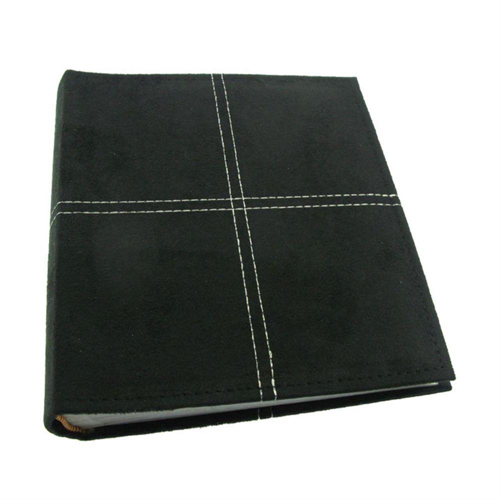 suede black 6x4 slip in photo album 200 photos. Black Bedroom Furniture Sets. Home Design Ideas