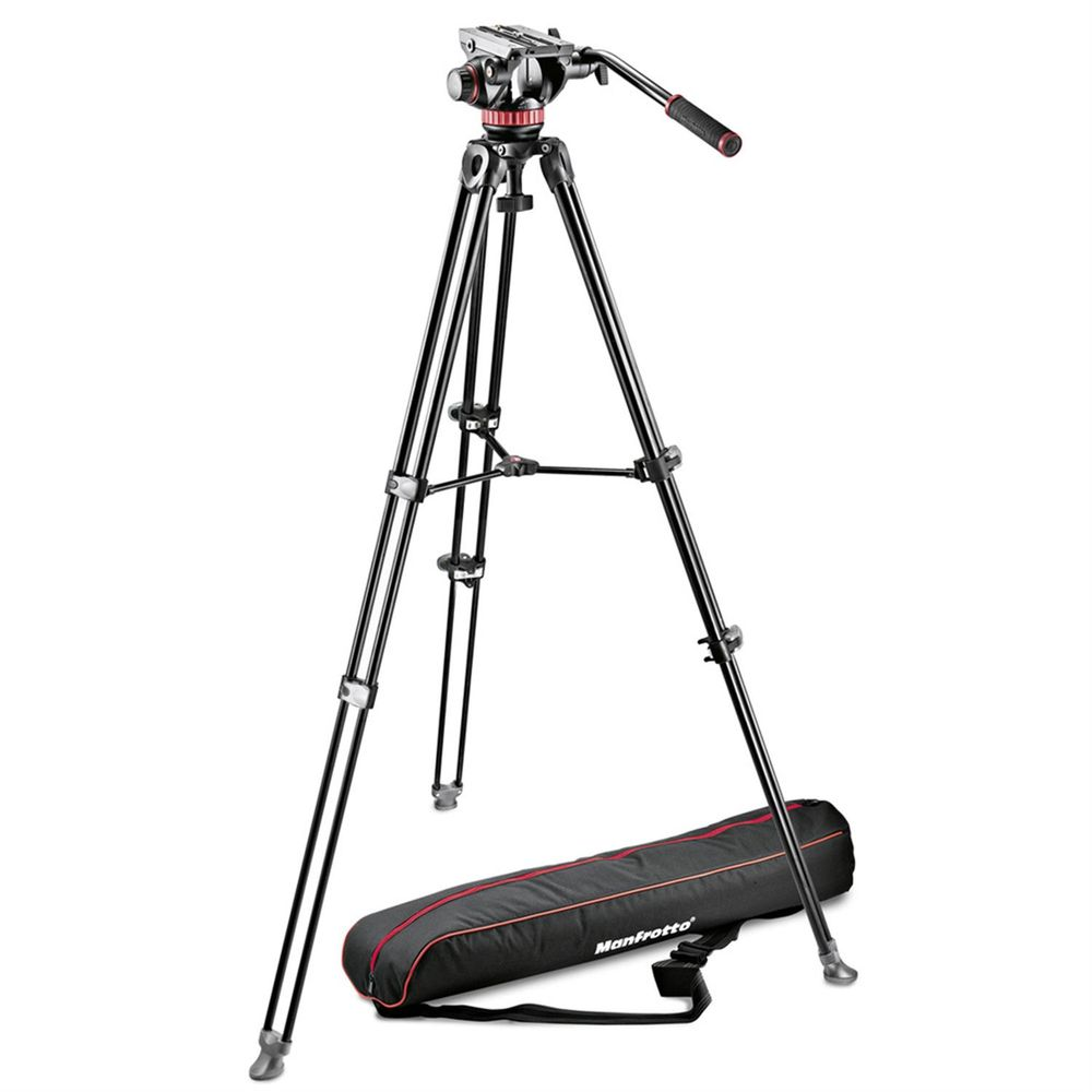 Manfrotto Mvk502am 1 Professional Fluid Video System With Mvh502a Head Mvh500ah