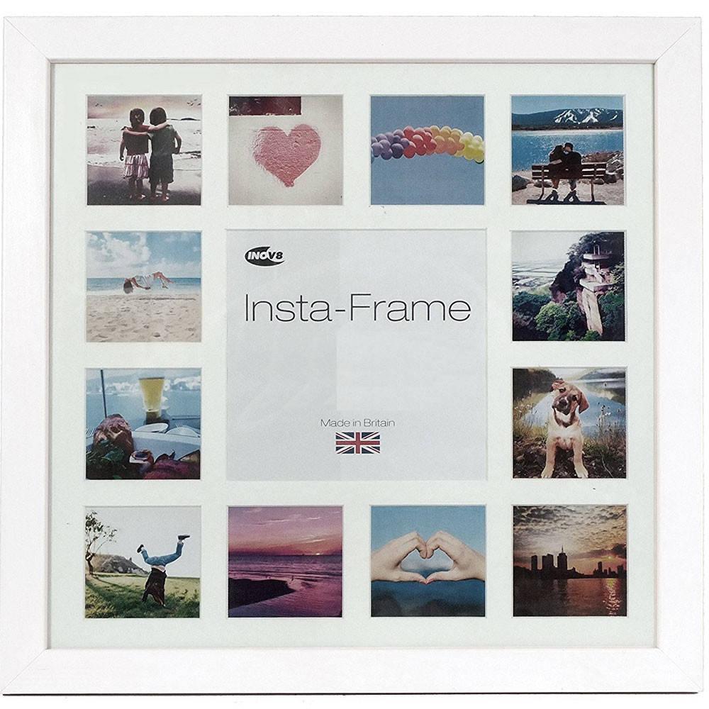Multi Photo Frame White For 13 3x3 inch Instagram Photos