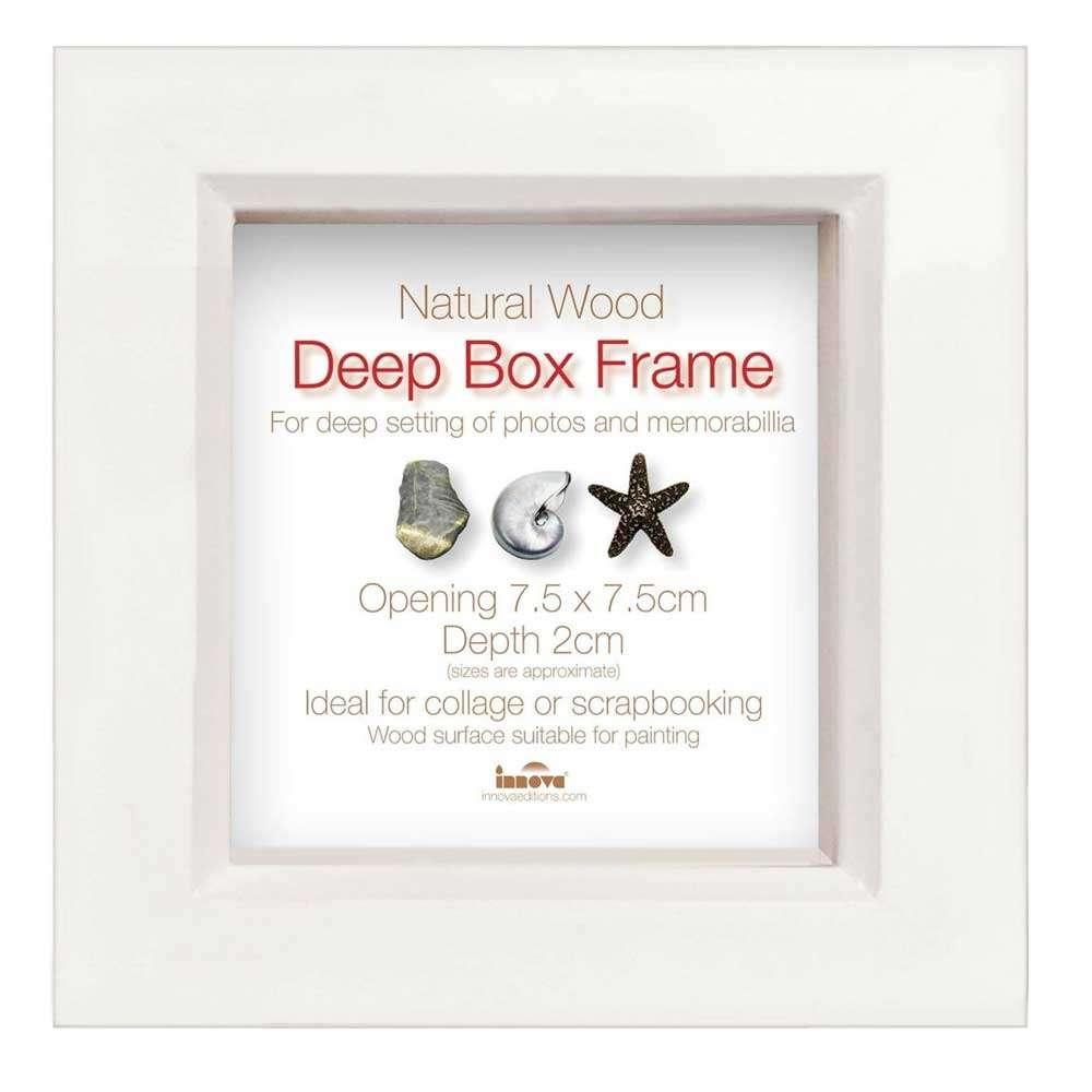 Wooden Photo Frame Takes 3x3 Inch Photo Box Frame