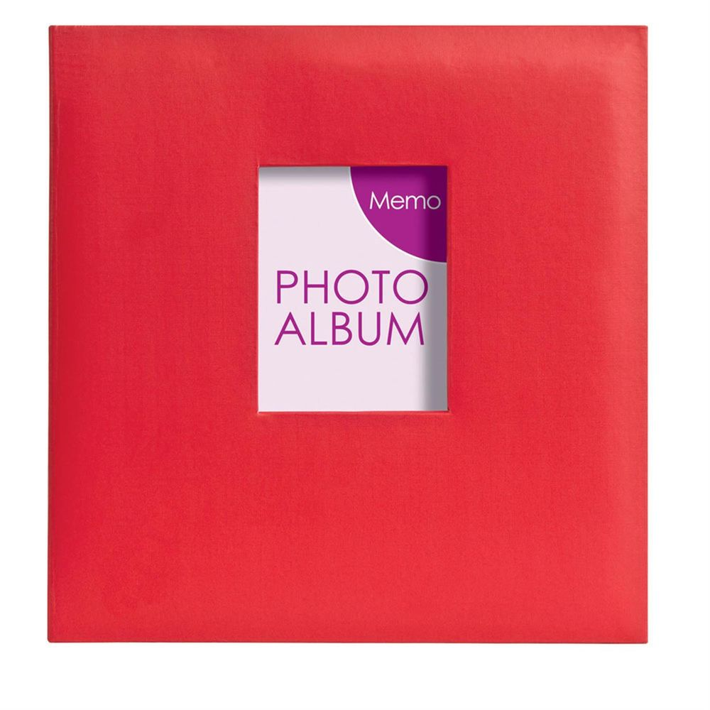 festival red 6x4 slip in photo album 200 photos. Black Bedroom Furniture Sets. Home Design Ideas