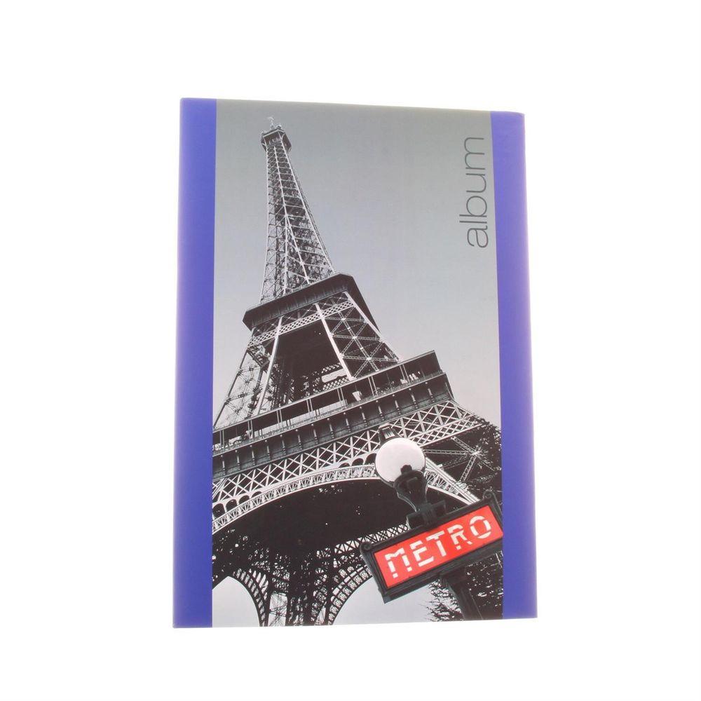 iconic city paris 6x4 slip in blue photo album 300 photos. Black Bedroom Furniture Sets. Home Design Ideas