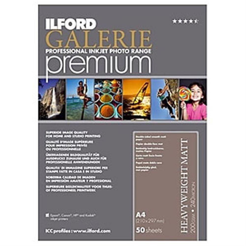 Ilford Galerie Premium Smooth Heavyweight Matt Paper 200gsm A4 - 50 ...