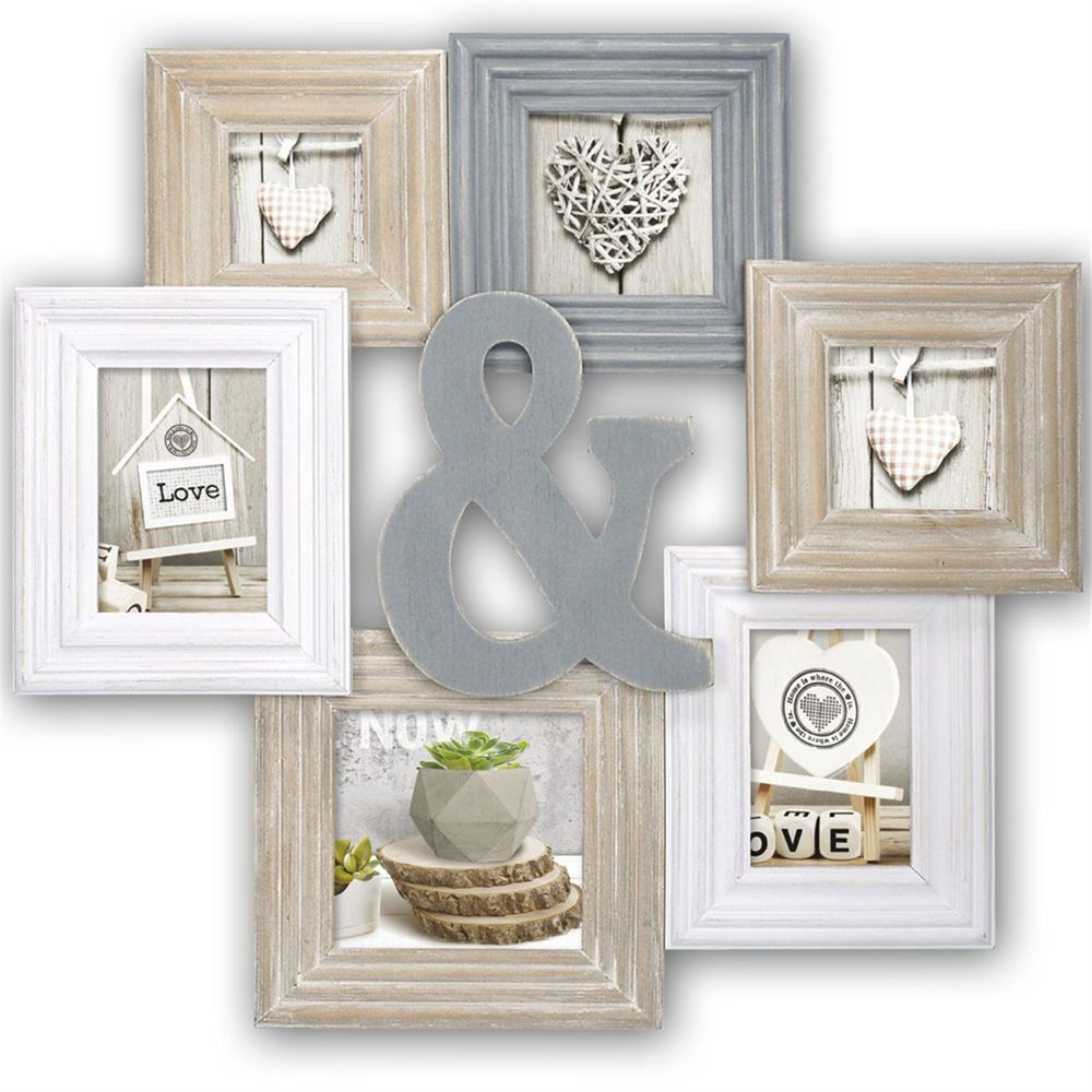 Chamboard multi aperture photo frame for 6 photos for Cadre mural design