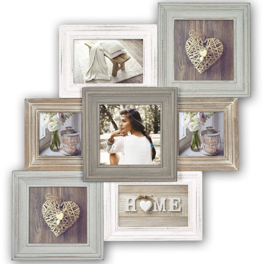 airolo wood multi aperture photo frame overall size. Black Bedroom Furniture Sets. Home Design Ideas