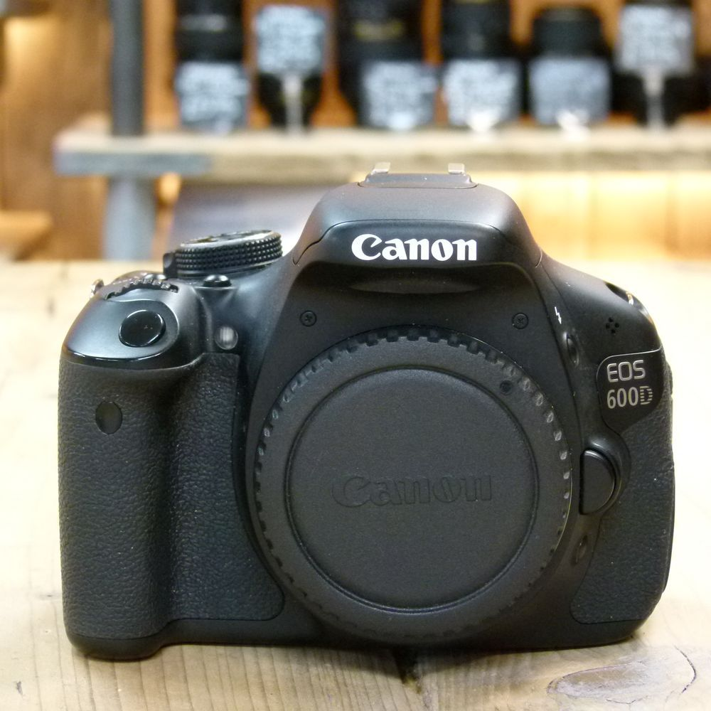 Used canon eos 600d digital slr camera body harrison cameras for Housse canon eos 600d