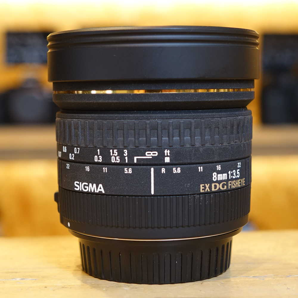 Sigma 8mm F 35 Ex Dg Fisheye Circular Used F35 Lens Canon Fit