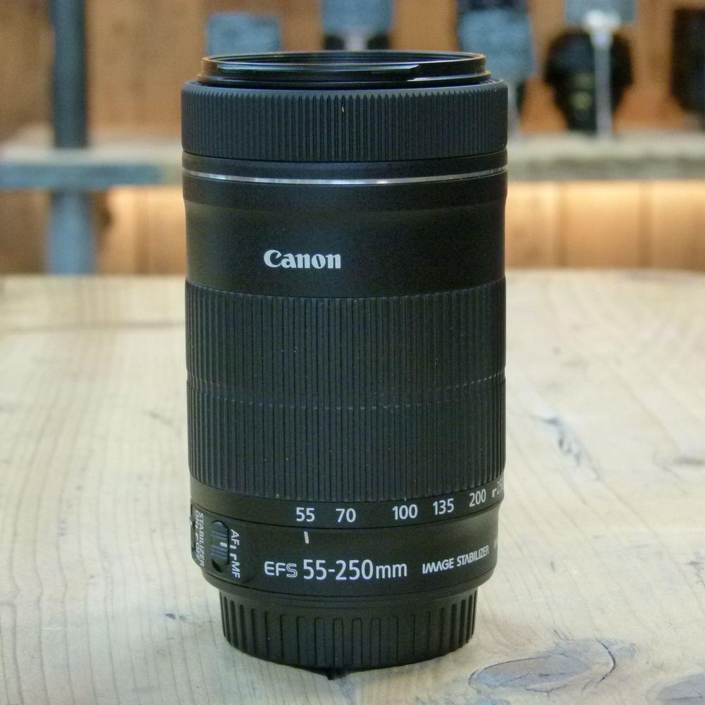 used canon ef s 55 250mm f4 5 6 is stm lens harrison cameras. Black Bedroom Furniture Sets. Home Design Ideas