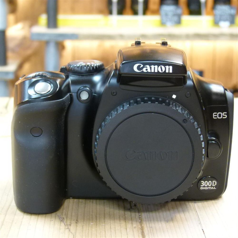 Used Canon EOS 300D DSLR Black Camera Body