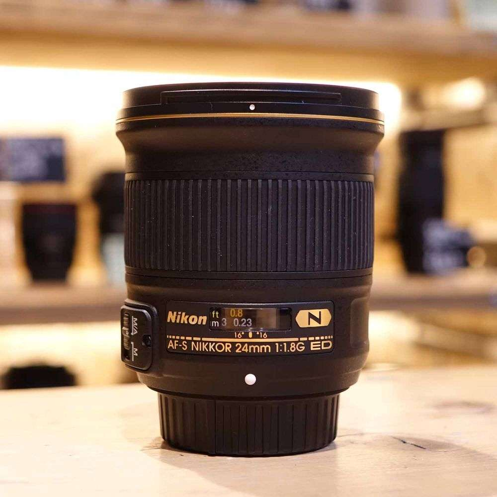 Used Nikon AF-S 24mm F1.8 G Lens FX Full Frame version