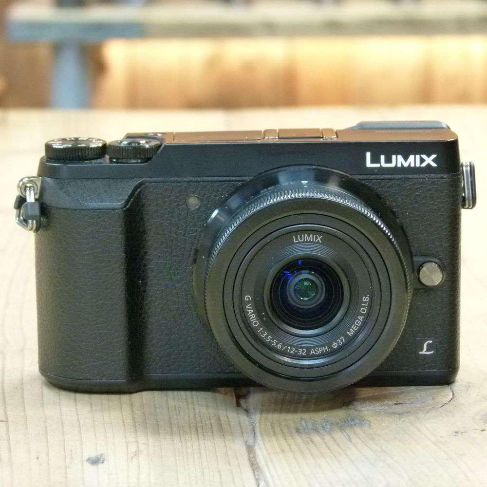 Used panasonic lumix dmc gx80 black camera with 12 32mm for Housse lumix gx80