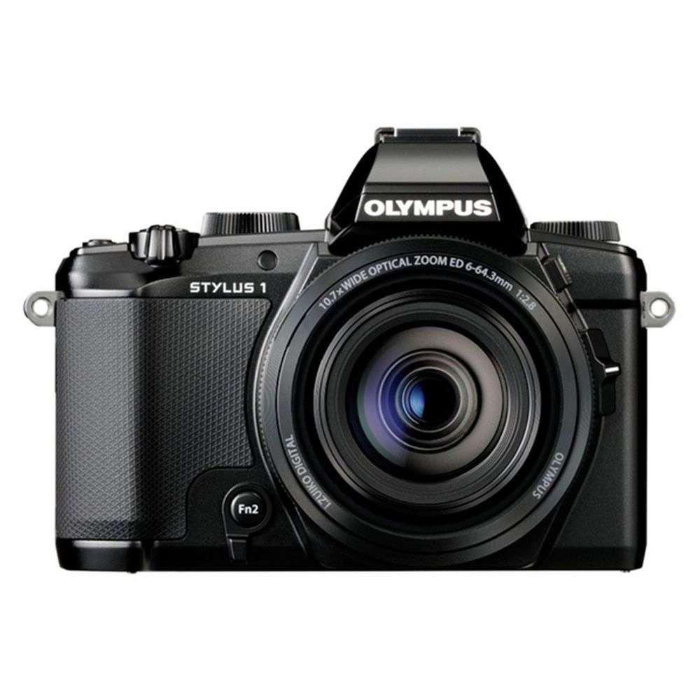 Olympus Digital Camera: Olympus Stylus 1 Black Digital Camera
