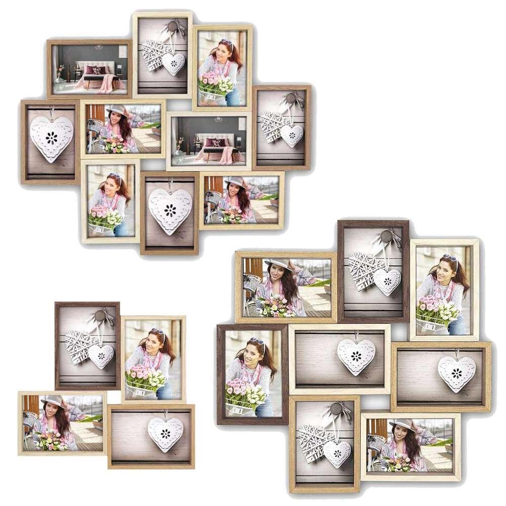 Zep Montreaux Multi Photo Frame Collection Wooden Mutli Colour Browns