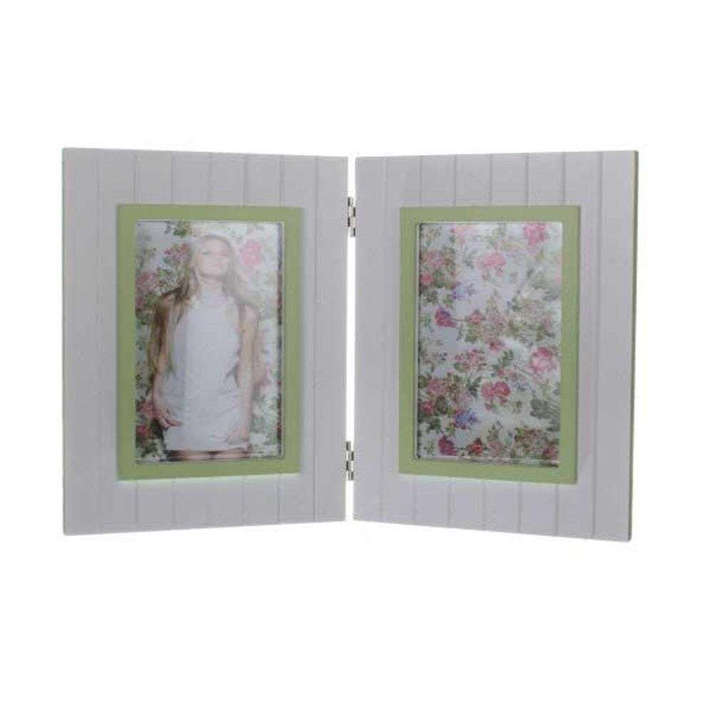 walther fleurie green double 6x4 photo frame. Black Bedroom Furniture Sets. Home Design Ideas
