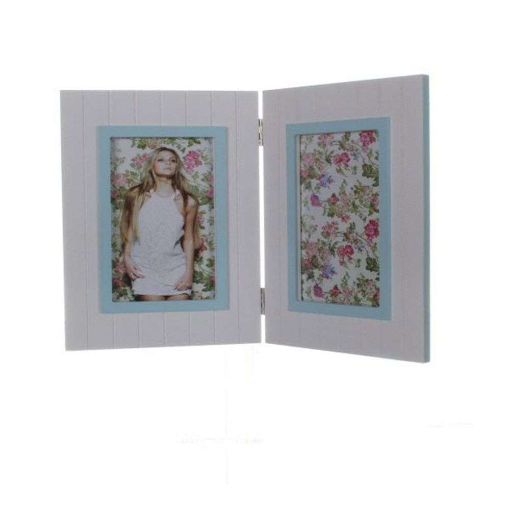 walther fleurie blue double 6x4 photo frame. Black Bedroom Furniture Sets. Home Design Ideas